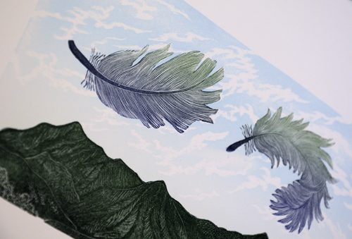 Allan Gale Kura Gallery Maori Art Design New Zealand Aotearoa Printmaking Limited Edition Woodcut Print East Wind
