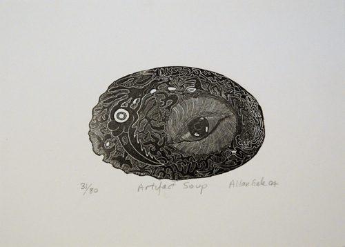 Allan Gale Kura Gallery Maori Art Design New Zealand Aotearoa Printmaking Limited Edition Woodcut Print Artifact Soup