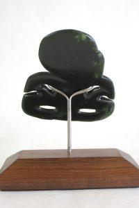 Greenstone tiki by Al Brown
