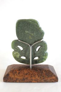 Greenstone tiki by Al Brown