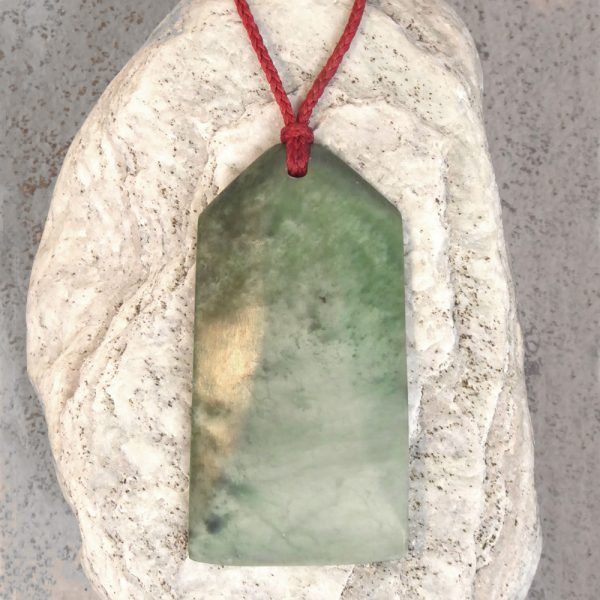 Greenstone toki pendant by Al Brown