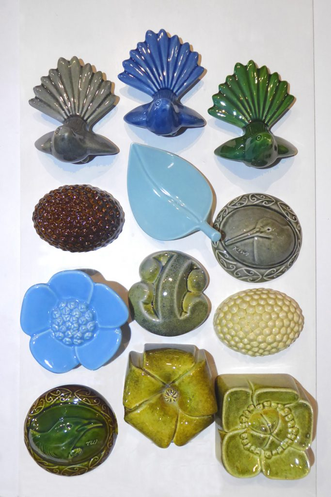 Ceramic Wall Forms by Bob Steiner from Kura Gallery