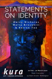 "Kura Gallery Exhibition Poster ""Statements on Identity"""
