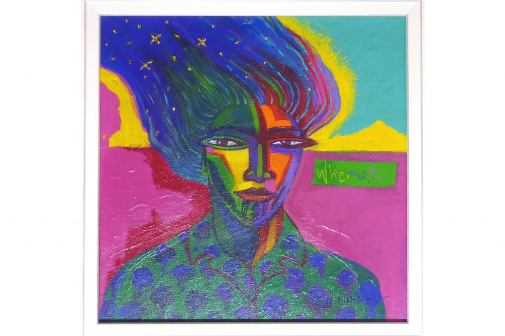 Brightly coloured painting by Darcy Nicholas