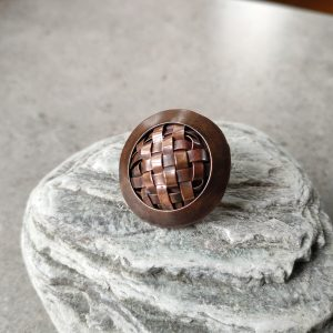 Copper Woven Brooch on pin