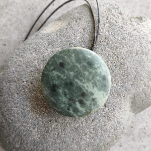 NZ greenstone kopae pendant by Tim Steel
