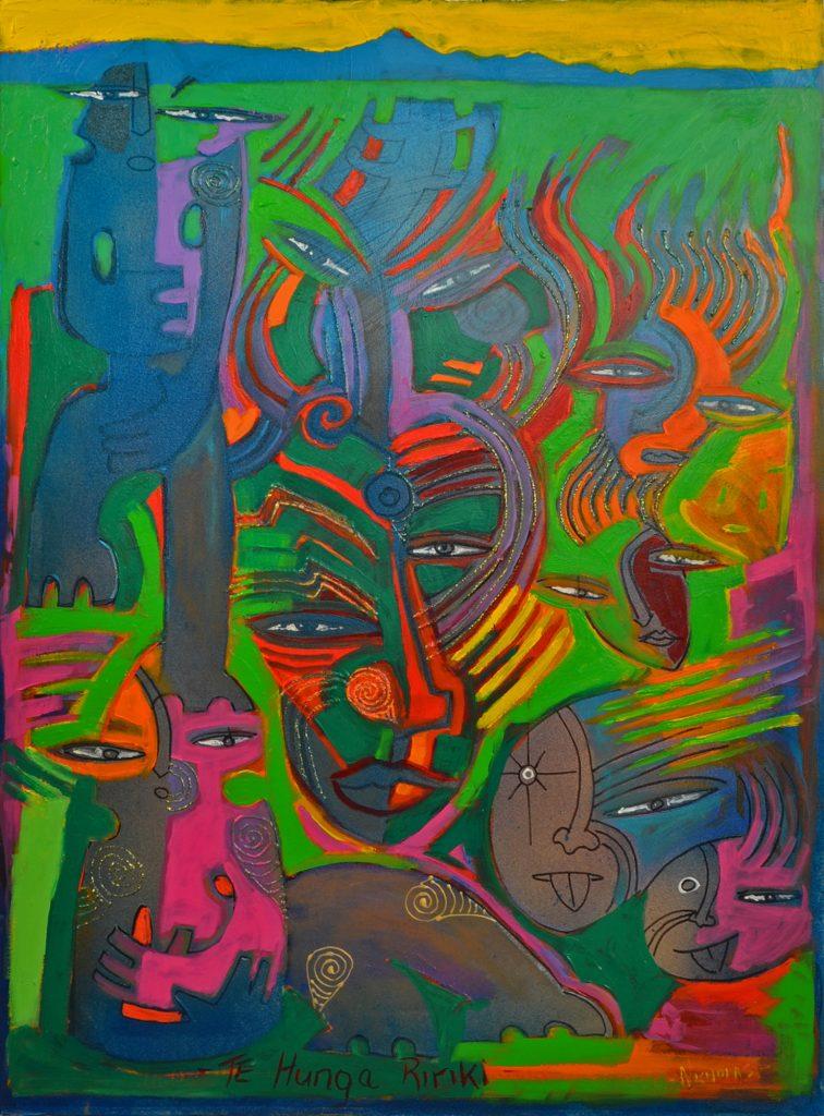 Painting by Darcy Nicholas - Kairau Marae