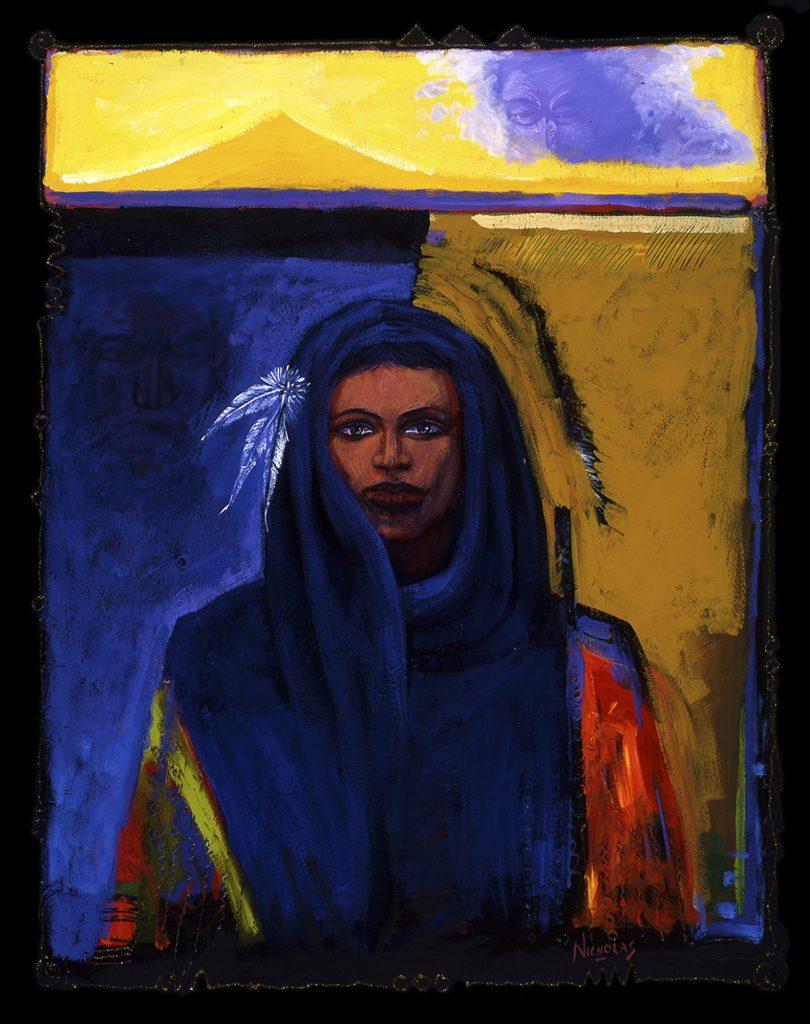 Painting by Darcy Nicholas called The Taranaki Woman