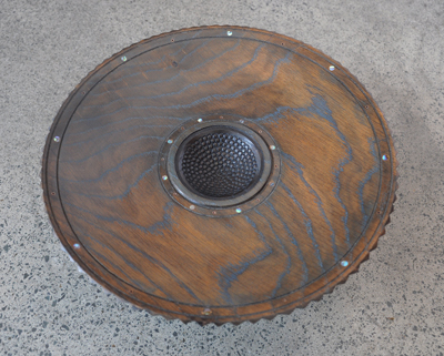 Inlaid Bowl #2 White Oak Paua Copper inlays 1