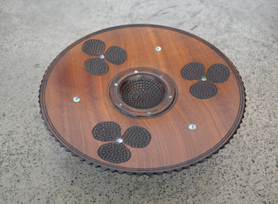 Inlaid Bowl sapelle paua mahogany1