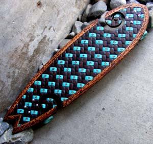 James skateboard big (blue)