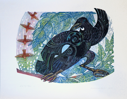 Gabrielle Belz Kura Gallery Maori Art Design New Zealand Aotearoa Printmaking Ka tu tonu print