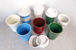 Coffee keep cups by Kim Morgan Pottery