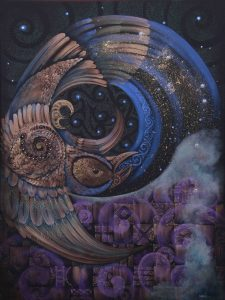 Mohua, Above The Stars II, a painting by Robin Slow