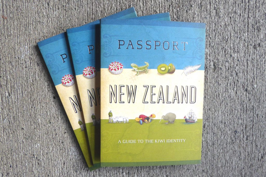 Passport NZ, a fun, informative booklet about NZ from Kura Gallery