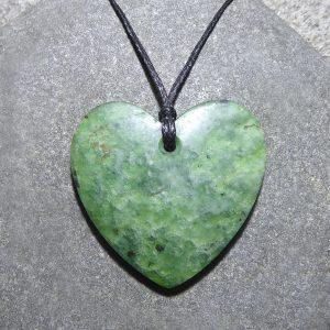 NZ greenstone heart by Raegan Bregmen