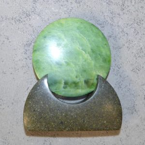 NZ greenstone kopae, or disc, by Raegan Bregmen