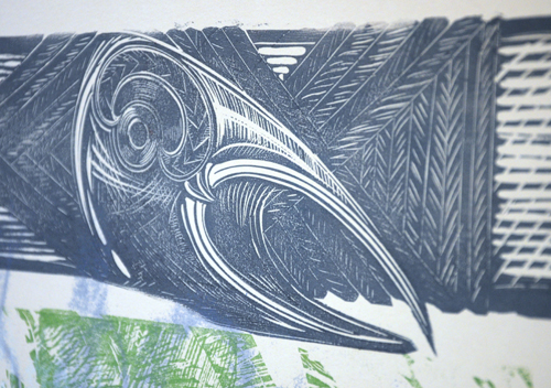 Gabrielle Belz Kura Gallery Maori Art Design New Zealand Aotearoa Printmaking Ka tangi rangiawhiowhio tuwhara