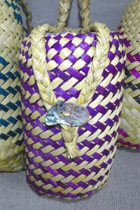 Flax woven pikau or backpack, by Riperata McMath