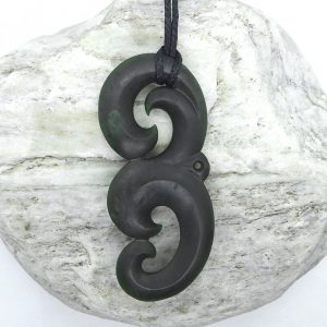 Greenstone manaia pendant by Scott Parker from Kura Gallery