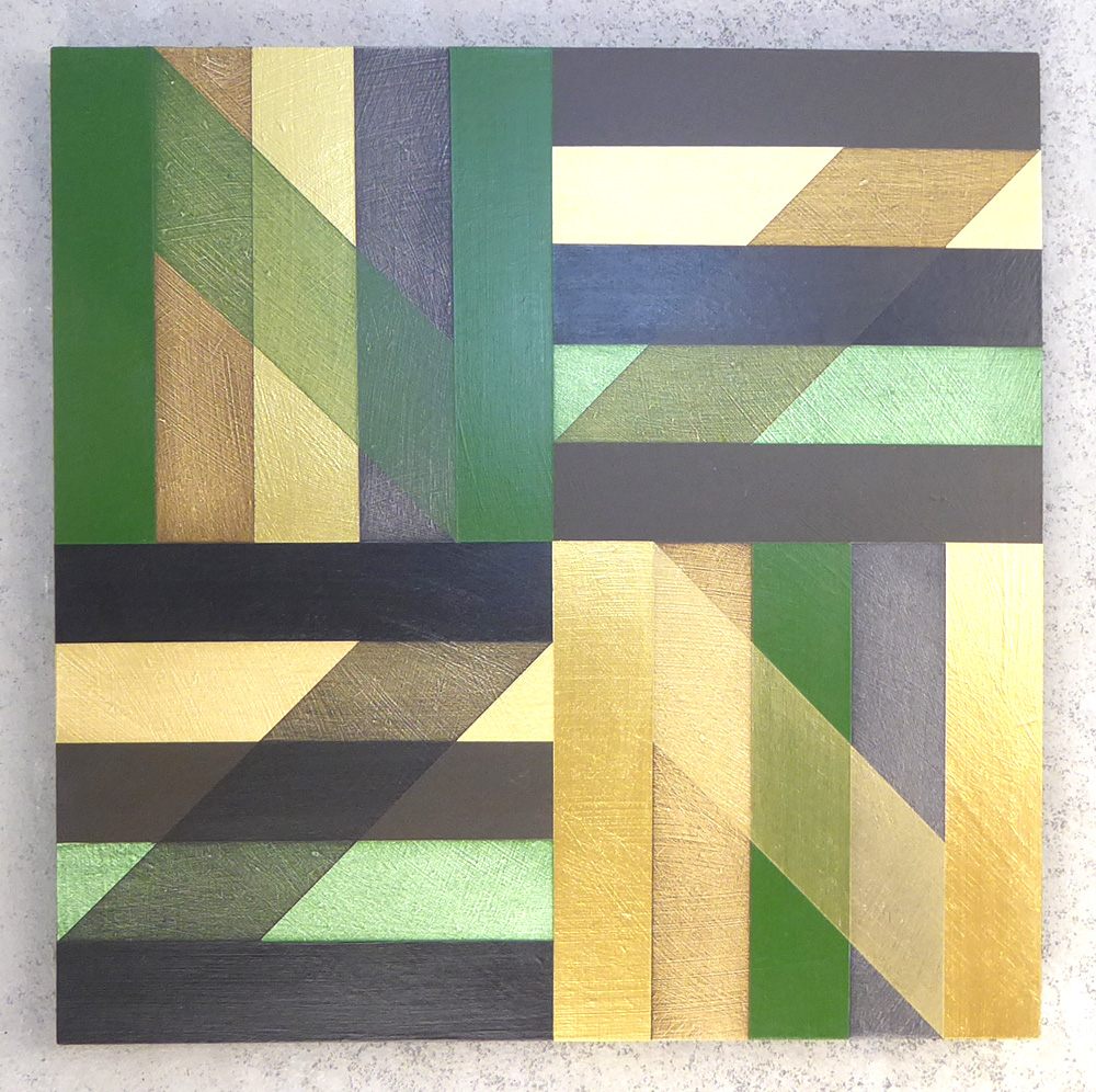 Green, black and gold painting by Sheree Willman