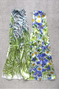 Pure silk scarves with NZ Flowers by Sue Wickison