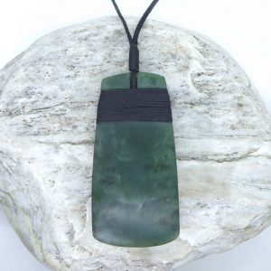 Greenstone toki pendant by Tim Steel from Kura Gallery