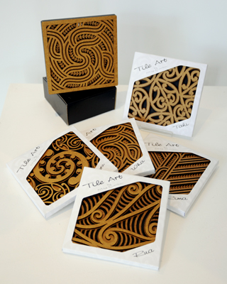 Aeon Giftware Mike Carlton Kura Gallery Aotearoa Art Design Tile Art