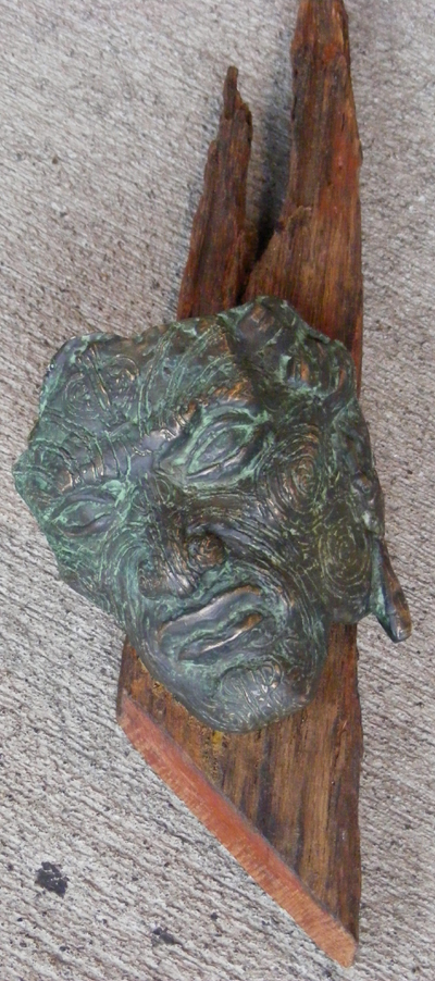 Ashely W Smith Bronze Mask maori art kura gallery auckland wellington new zealand
