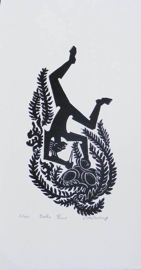 Kura Gallery Maori Art Design Print Cliff Whiting
