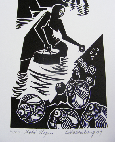Kura Gallery Maori Art Design Print Cliff Whiting
