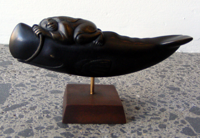 Doug Marsden Kura Gallery New Zealand Design Bronze Whale Rider