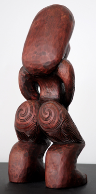Sunnah Thompson Kura Gallery Maori Art Design New Zealand Carving Kauri Tekoteko Female 2