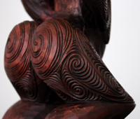 Sunnah Thompson Kura Gallery Maori Art Design New Zealand Carving Kauri Tekoteko Female 3