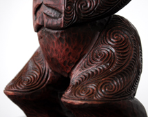 Sunnah Thompson Kura Gallery Maori Art Design New Zealand Carving Kauri Tekoteko Female 4a