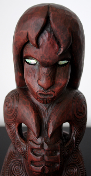 Sunnah Thompson Kura Gallery Maori Art Design New Zealand Carving Kauri Tekoteko Female body 2