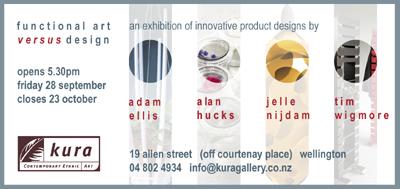 Kura Gallery New Zealand Design Adam Ellis Alan Hucks Jelle Nijdam Tim Wigmore