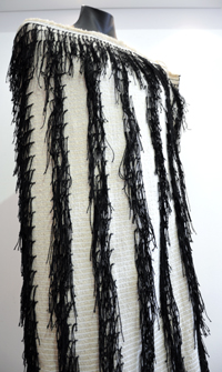Garry Grace Kura Gallery Maori Art Design New Zealand Weaving Korowai Cloak Whakaheke Hukahuka Taniko Design