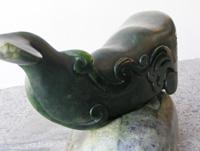 Graeme Wylie kura gallery New Zealand art pounamu greenstone whale -det