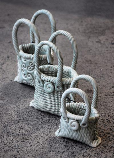 Michelle Bow Kura Gallery Maori Art Design New Zealand Aotearoa Maori Ceramic Artist Kete Basket