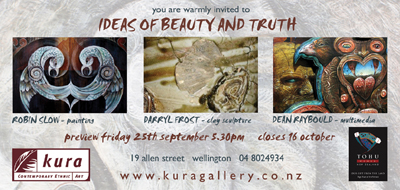 Kura Gallery Maori Art New Zealand Design Painting Ceramics Multimedia Robin Slow Darryl Frost Dean Raybould