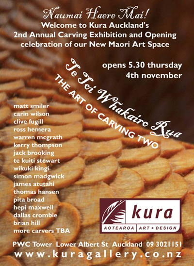 Maori Carving Exhibition Kura Gallery Auckland New Zealand