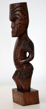Matt Smiler Kura Gallery Maori Art Design New Zealand Carving Tekoteko totara 2