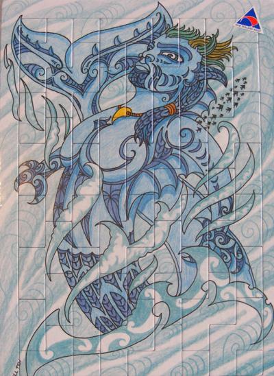 Mindshed Puzzle 5 maori art kura gallery auckland wellington new zealand