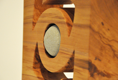 Peter Radley Kura Gallery New Zealand Art Design Wood Sculpture Rotation Heart Rimu Greywacke Argilite Det 2