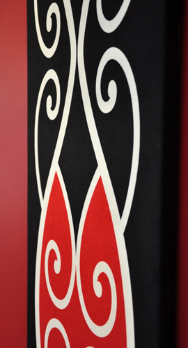 Borrowed Earth Design Kura Gallery Maori Art Design New Zealand Kowhaiwhai Korero tuku iho wall art panel 2