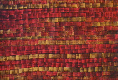 russell kereama red korowai painting maori art design kura art gallery