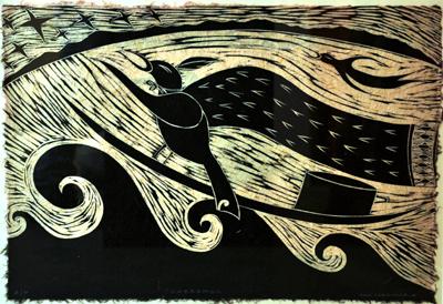 Maori Art New Zealand Printmaking Sam Farquhar Kura Gallery Haerenga