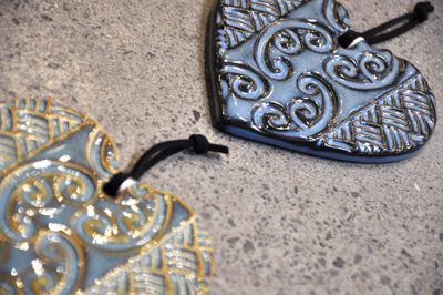 small blue heart close up michelle bow