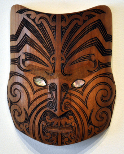 Thomas Hansen Kura Gallery Maori Carving New Zealand Art Design Kauri Upoko Mask